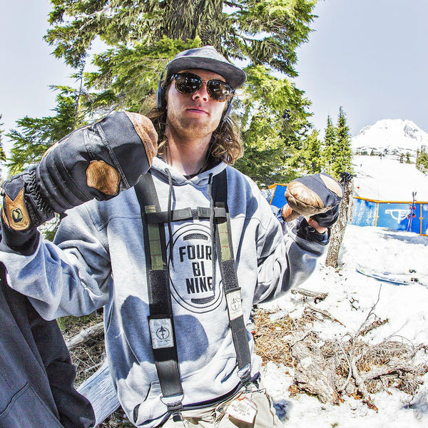 Will Berman wearing The Generals on Mt Hood