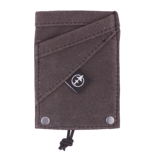 The Grip Wallet smoke waxed canvas