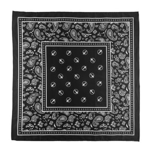 Bushel Bandana in Black with custom paisley Treefort Lifestyles print