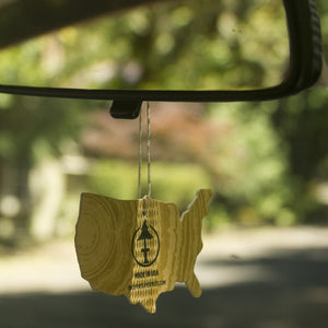 Keep your car smelling good on day trips with the USA made Treefort Lifestyles air freshener!