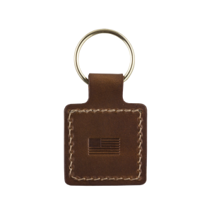 Back detail shot of Keychain by Treefort Lifestyles, made in the USA