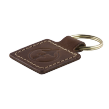 Load image into Gallery viewer, Leather Keychain by Treefort Lifestyles, made in the USA (detail shot)