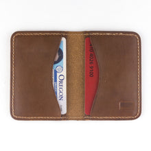 Load image into Gallery viewer, The Jackson wallet by Treefort Lifestyles, made in the USA (open view)