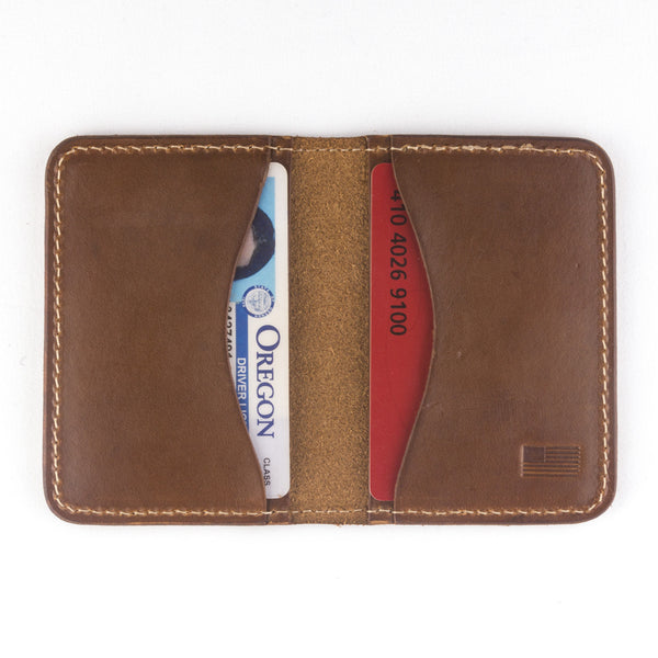 The Jackson wallet by Treefort Lifestyles, made in the USA (open view)