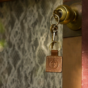 Leather Keychain by Treefort Lifestyles, made in the USA