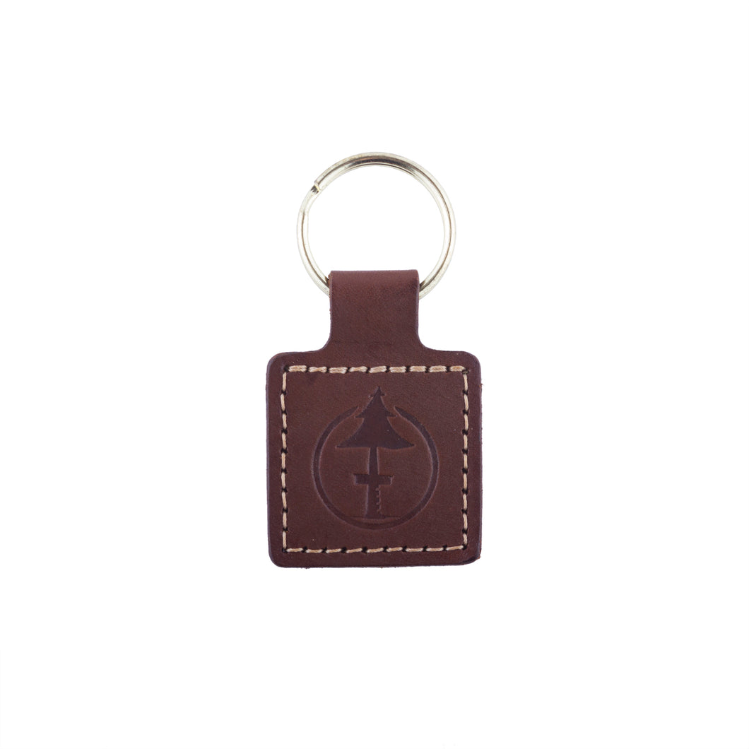 Brown Leather Key Chain by Treefort Lifestyles, made in the USA