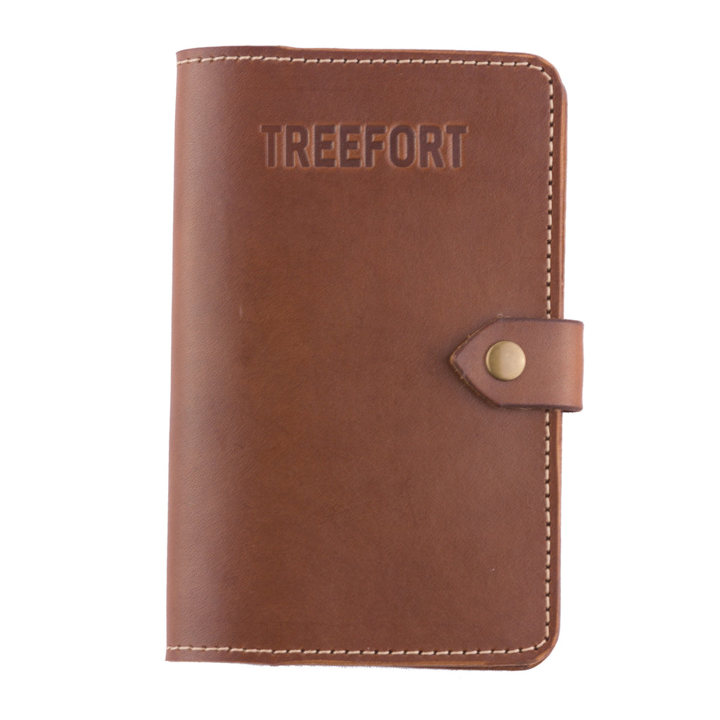 Leather passbook handcrafted passport wallet