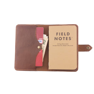 handcrafted leather passport wallet