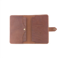 Load image into Gallery viewer, Handcrafted leather passbook detail 2