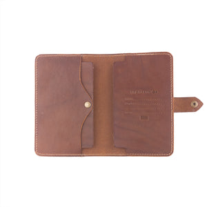 Handcrafted leather passbook detail 2