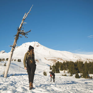 Mimmi Zink up at Mt. Hood with the Travelers Trunk by Treefort Lifestyles