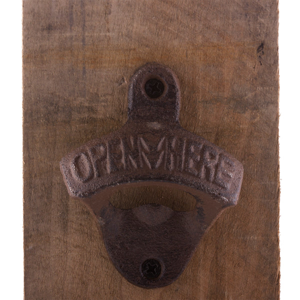 Tree Tap Bottle Opener Barn Board Detail 3