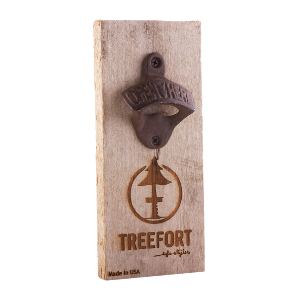 Tree Tap Bottle Opener Barn Board Detail 1