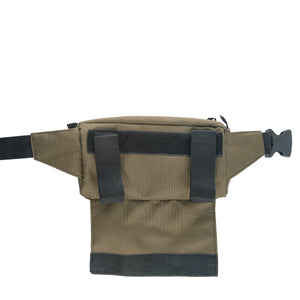 Green Slack Pack by Treefort Lifestyles - Back with velcro enclosure