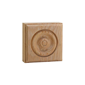 3 Inch Casing Corner Rosette Block EWAP30 Red Oak
