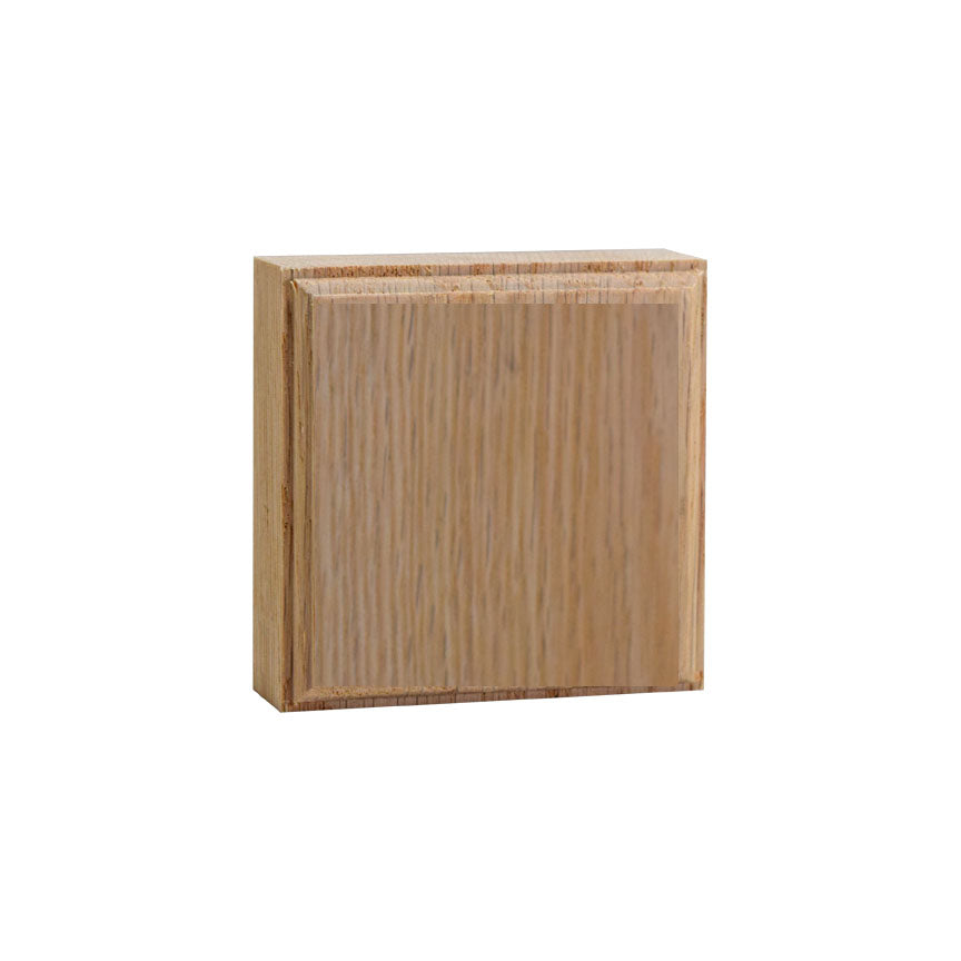 3 Inch Casing Corner Block EWAP31 Red Oak