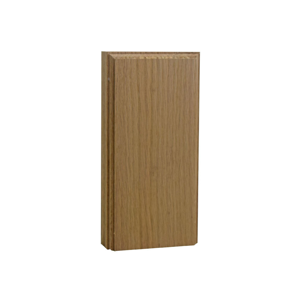 Plinth Block 3 Inch Base & Casing Block 6 Inch Tall EWAP36 Red Oak