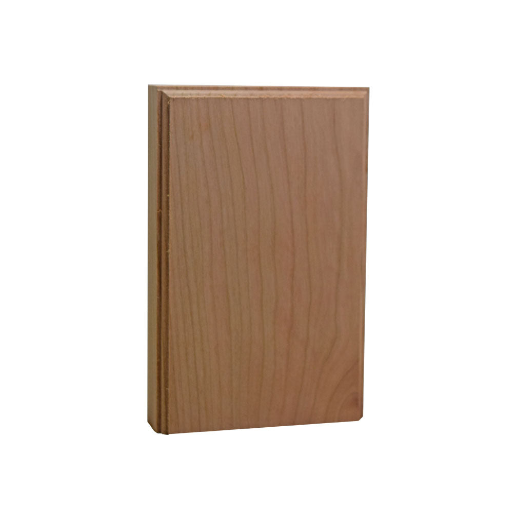 Plinth Block 4 Inch Base & Casing Block 6 Inch Tall EWAP46 Cherry