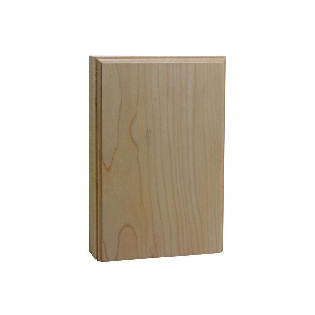 Plinth Block 4 Inch Base & Casing Block 6 Inch Tall EWAP46 Maple