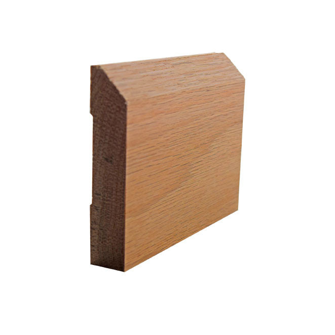 Red Oak Beveled Edge Baseboard Trim EWBB14