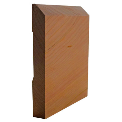 Cherry Beveled Edge Baseboard Trim EWBB15