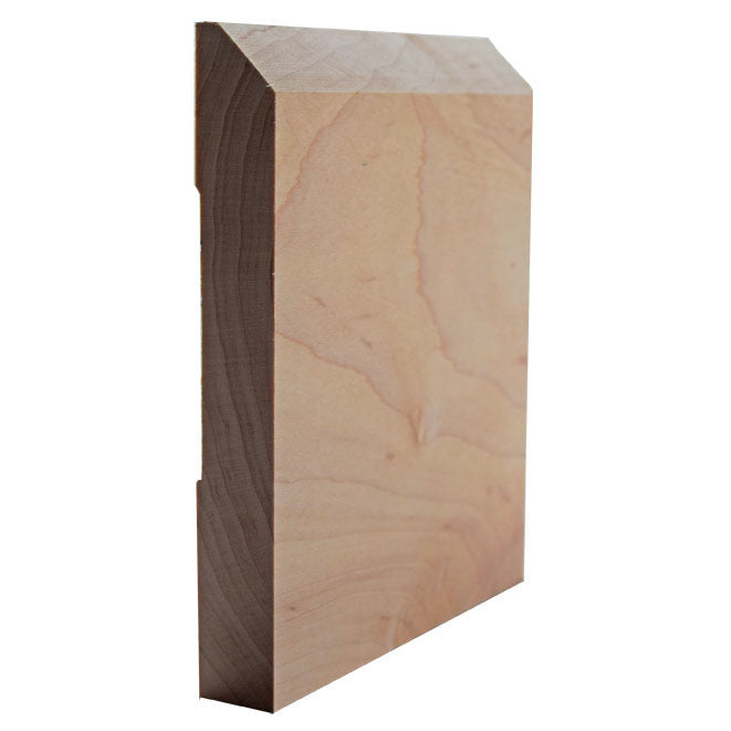Maple Beveled Edge Baseboard Trim EWBB15