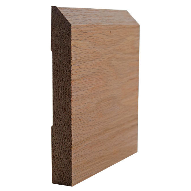 Red Oak Beveled Edge Baseboard Trim EWBB15