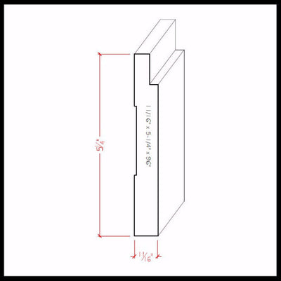 Baseboard Trim EWBB18 Line Drawing