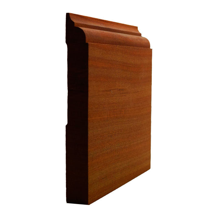 Sapele Mahogany Nose and Cove Baseboard Trim EWBB23