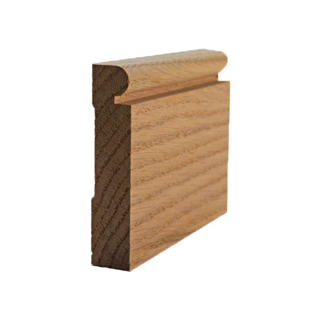 Red Oak Beaded Baseboard Trim EWBB25