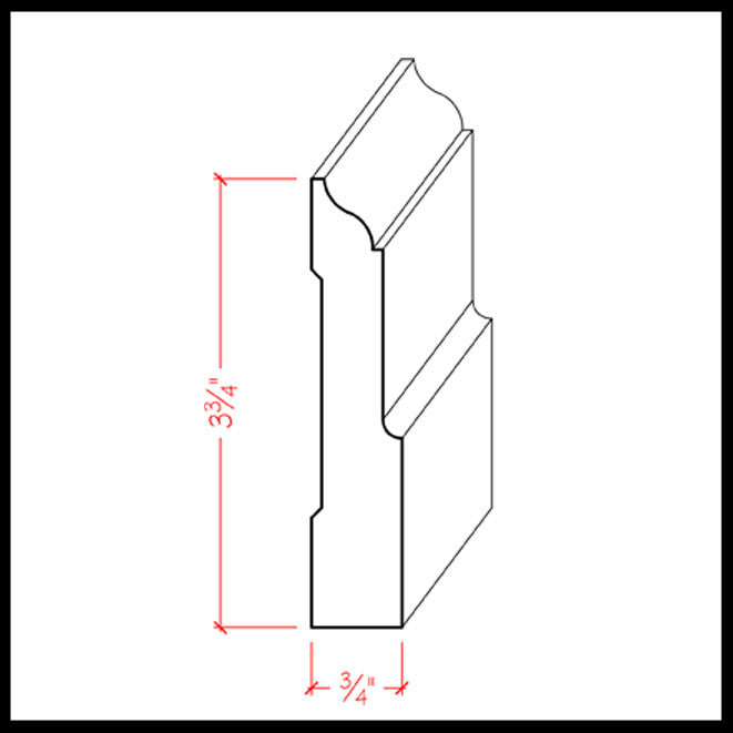 BaseBoard Trim EWBB31 Line Drawing