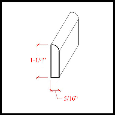 Baseboard Shoe Trim EWBS16 Line Drawing