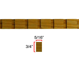Red Oak Dentil Molding EWCD91