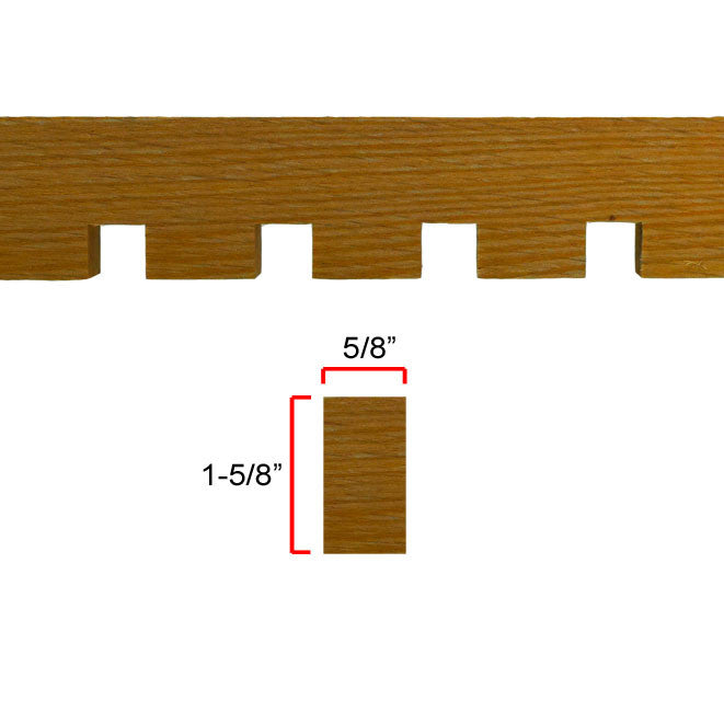 Red Oak Dentil Molding EWCD93