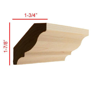 Maple Colonial Crown Molding EWCR11