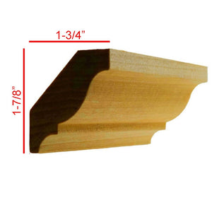 Poplar Colonial Crown Molding EWCR11