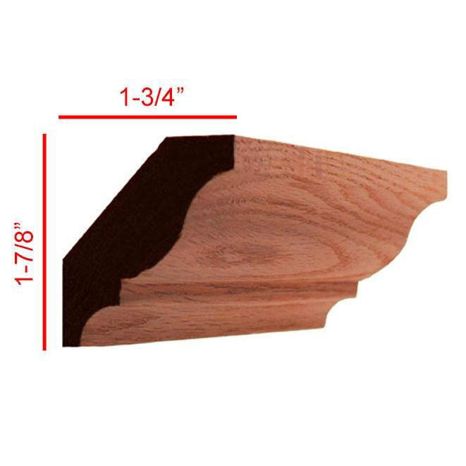 Red Oak Colonial Crown Molding EWCR11
