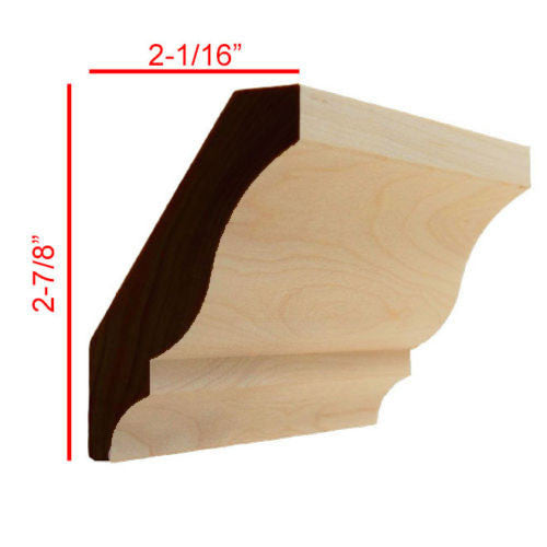 Maple Colonial Crown Molding EWCR12