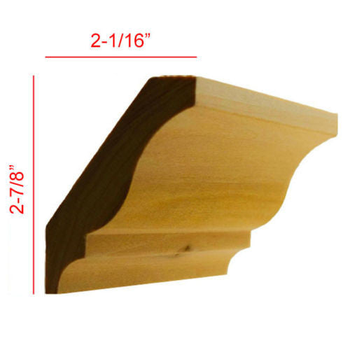 Poplar Colonial Crown Molding EWCR12