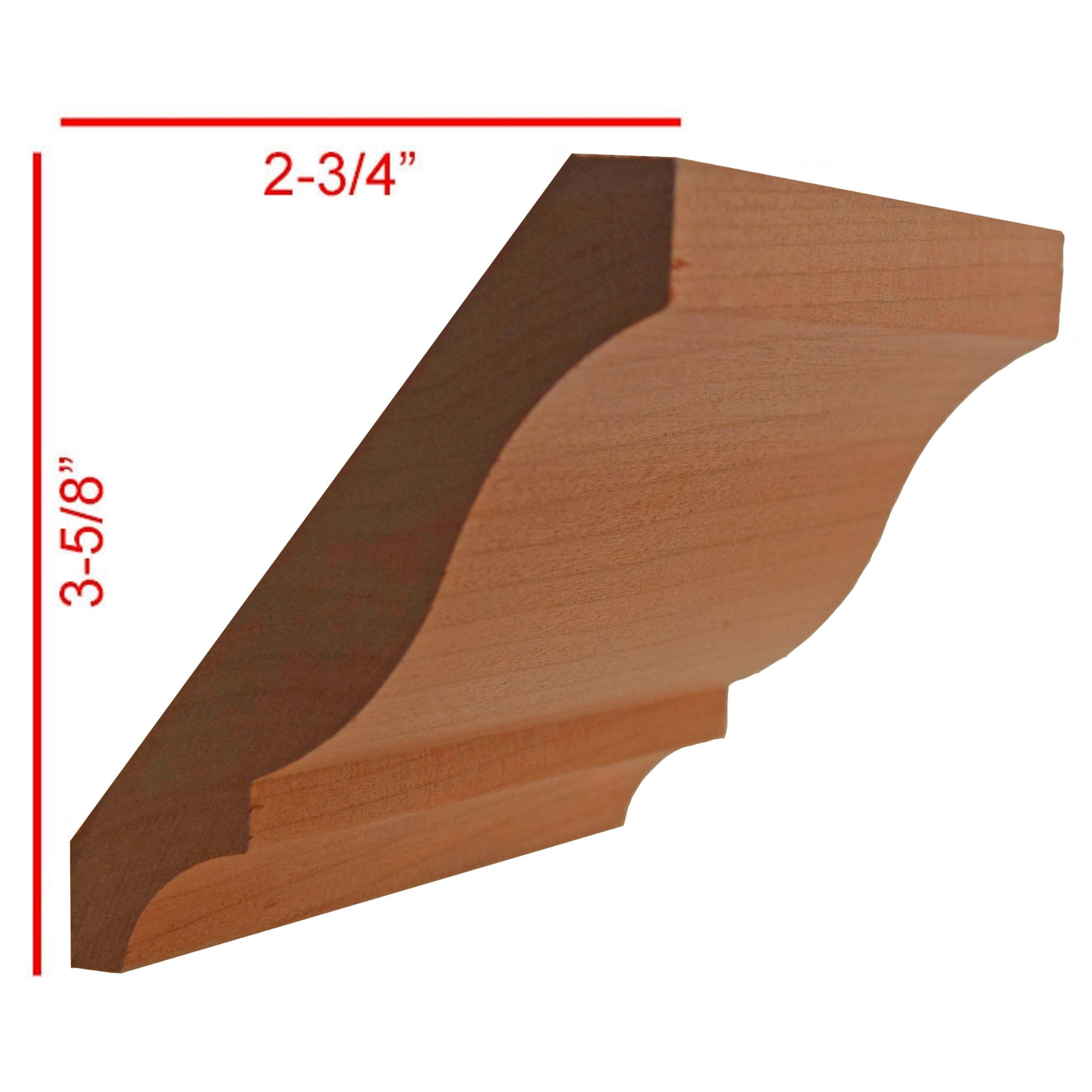 Cherry Colonial Crown Molding EWCR11