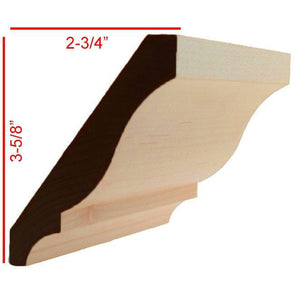 Maple Colonial Crown Molding EWCR13