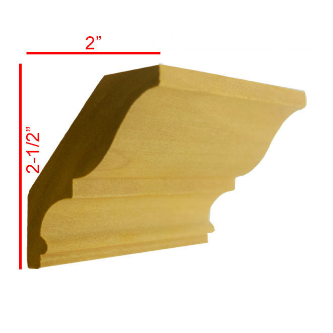Poplar Crown Molding EWCR17