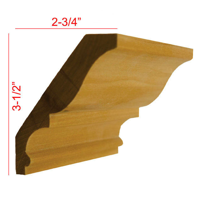 Poplar Crown Molding EWCR18