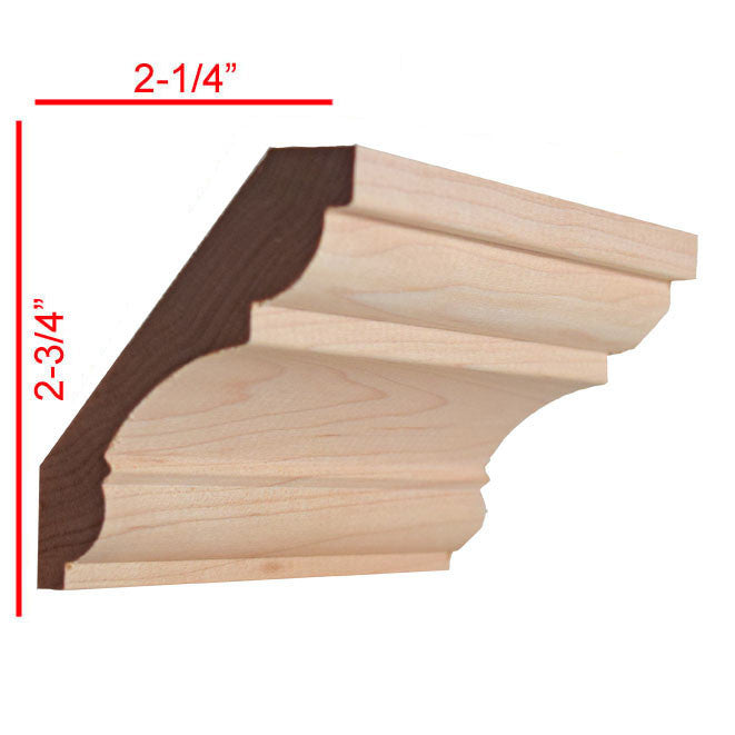 Maple Crown Molding Trim EWCR20