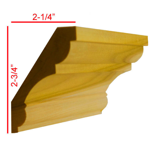 Poplar Crown Molding EWCR20