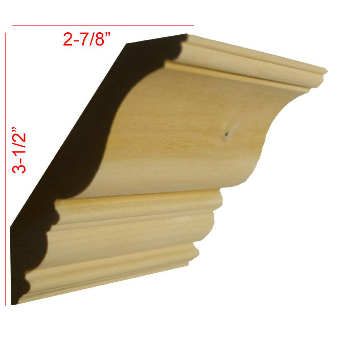 Poplar Crown Molding EWCR27