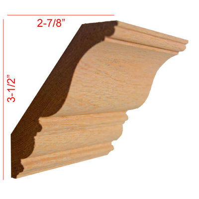 Red Oak Crown Molding EWCR27