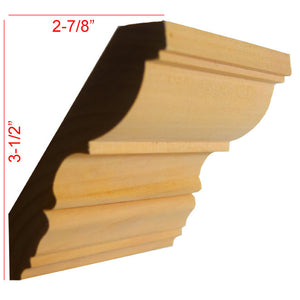 Poplar Crown Molding EWCR30