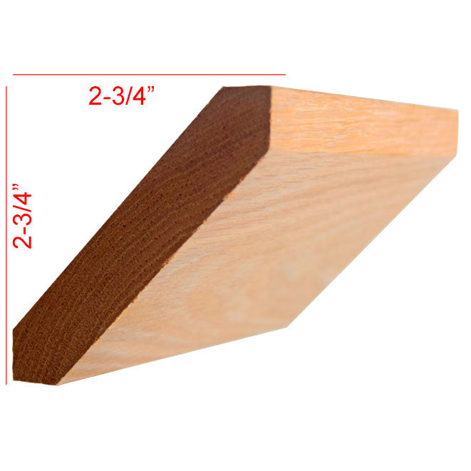 Red Oak Shaker Crown Molding EWCR38