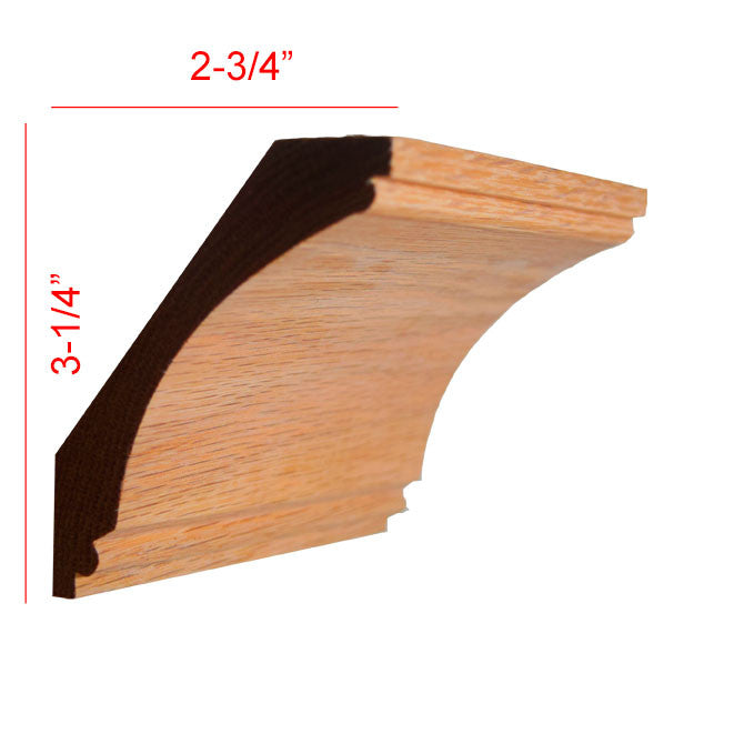 Red Oak Cove Crown Molding EWCR43